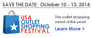 USA Outlet Shopping Festival October 10-13 2014